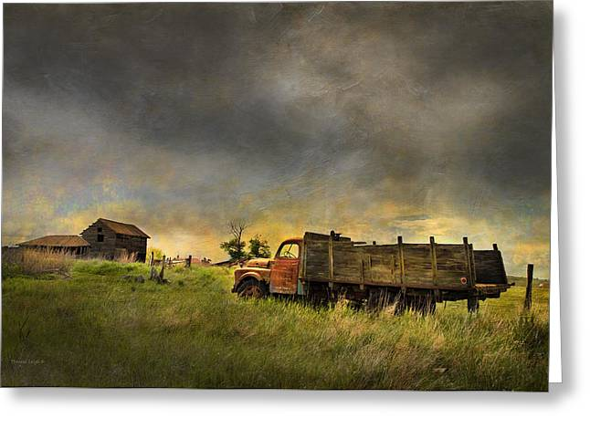 Old Relics Greeting Cards - Abandoned Farm Truck Greeting Card by Theresa Tahara