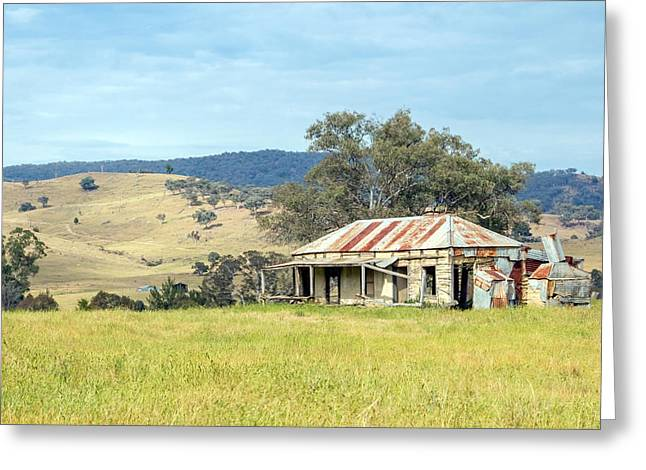 Daubs Greeting Cards - Abandoned Farmhouse Greeting Card by Nicholas Blackwell