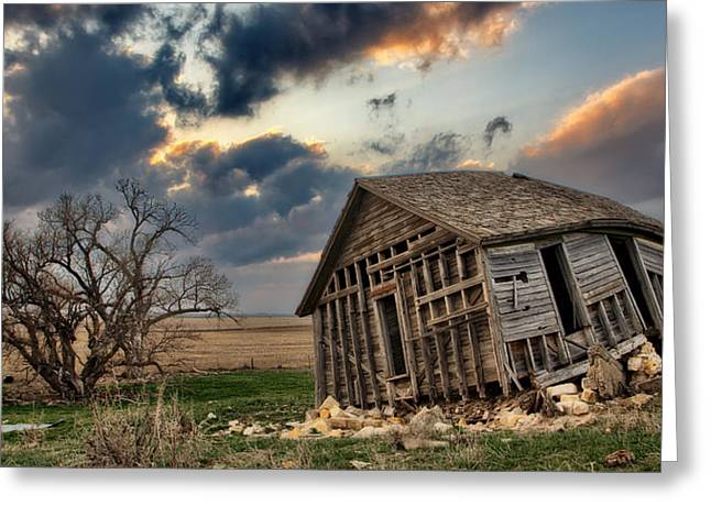Bent Greeting Cards - Abandoned Farmstead 2 Greeting Card by Thomas Zimmerman