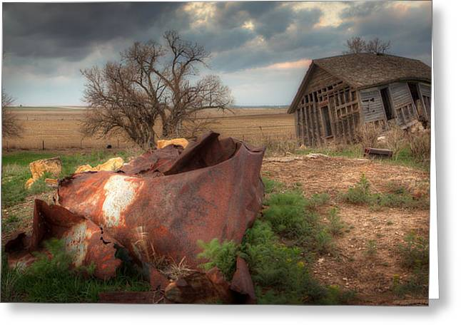 Abandoned Houses Greeting Cards - Abandoned Farmstead Greeting Card by Thomas Zimmerman