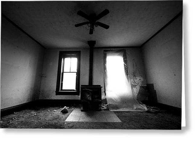 Chatham Greeting Cards - Abandoned Fireplace Greeting Card by Cale Best