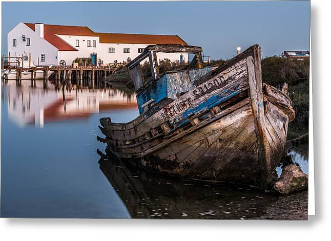 Wooden Ship Greeting Cards - Abandoned Fishing Boat I Greeting Card by Marco Oliveira