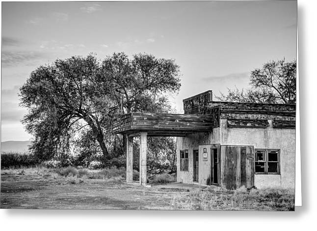 Kittitas Valley Greeting Cards - Abandoned Gas Station - Thrall - Washington - October 2013 Greeting Card by Steve G Bisig