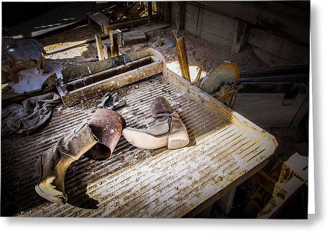 Abandoned Gold Mine Greeting Card by Scott McGuire