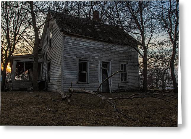 Abandoned Houses Greeting Cards - Abandoned Home Greeting Card by Aaron J Groen