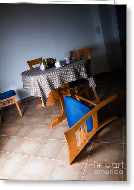 Corner Kitchen Greeting Cards - Abandoned home Greeting Card by Sinisa Botas