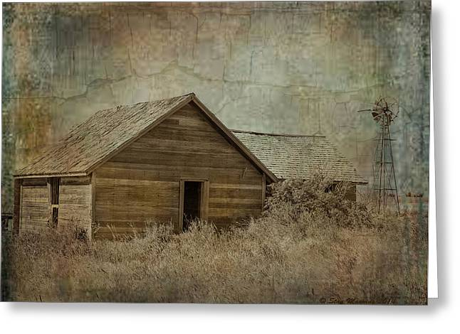 Abandond Greeting Cards - Abandoned Home with windmill Greeting Card by Stan Manning