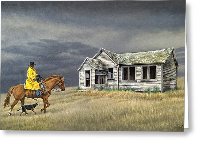 Horseman Greeting Cards - Abandoned Homestead-Eastern Idaho Greeting Card by Paul Krapf