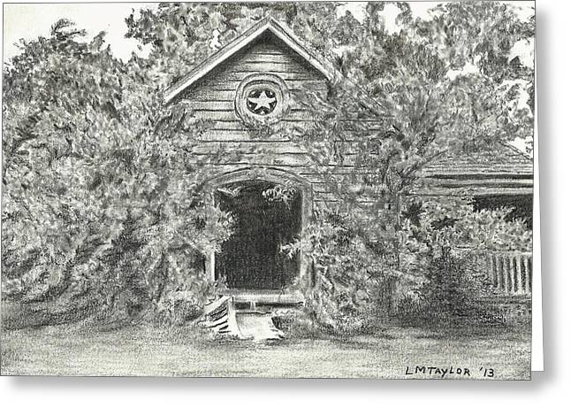 Abandoned Houses Drawings Greeting Cards - Abandoned Homestead Greeting Card by Linda Taylor