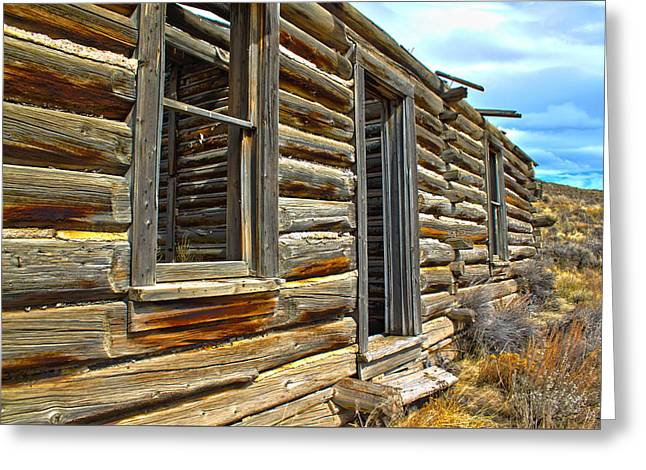 Cabin Window Greeting Cards - Abandoned Homestead Greeting Card by Shane Bechler