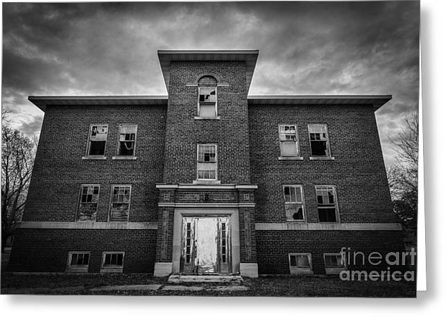 Psychiatric Greeting Cards - Abandoned Hospital Greeting Card by Steven Reed