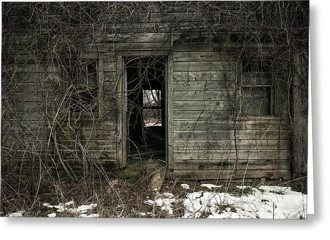 Abandoned House - Enter House on the Hill Greeting Card by Gary Heller
