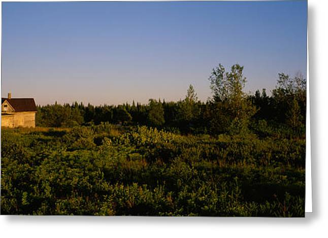 Abandoned Building Greeting Cards - Abandoned House In A Field, Ellenburg Greeting Card by Panoramic Images
