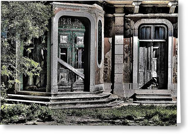 Abandoned House Greeting Card by Marco Oliveira