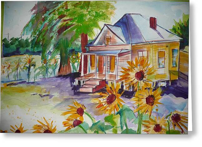 Abandoned House On Dover Greeting Card by Suzanne Willis
