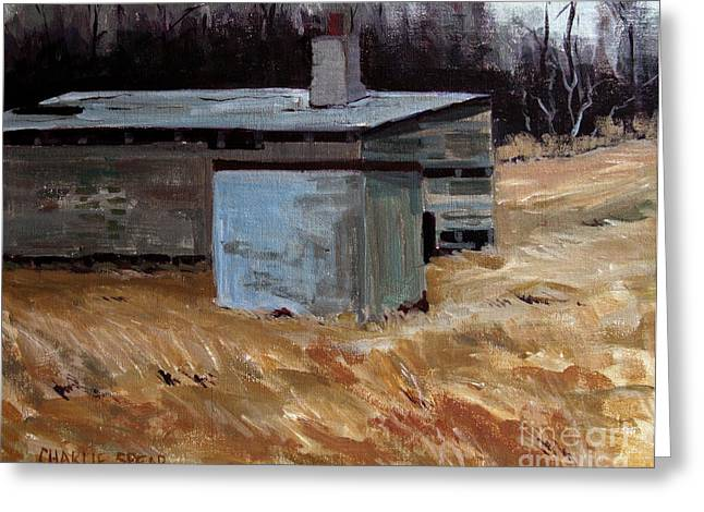 Outbuildings Greeting Cards - Abandoned Ice House circa late 1800.s Greeting Card by Charlie Spear