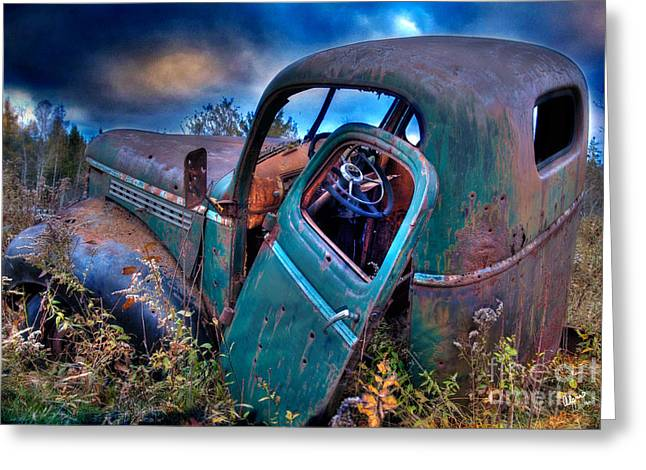 Rural Maine Roads Photographs Greeting Cards - Abandoned II Greeting Card by Alana Ranney