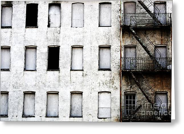 Asbury Park Jersey Shore Architecture Greeting Cards - Abandoned in Asbury Park Greeting Card by John Rizzuto