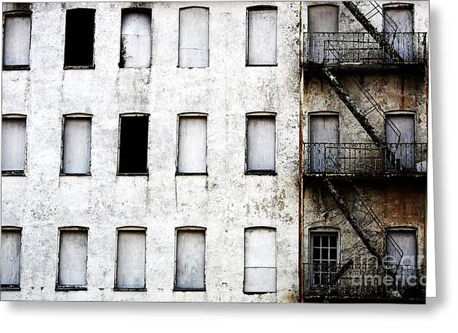Photo Art Gallery Greeting Cards - Abandoned in Asbury Park Greeting Card by John Rizzuto