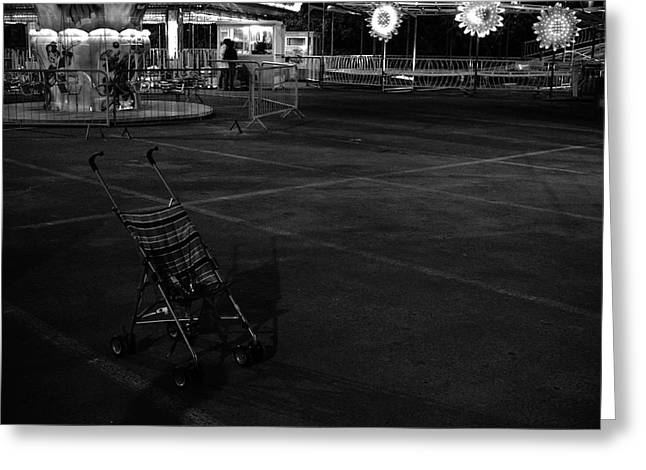 Missing Child Greeting Cards - Abandoned In Funland Greeting Card by Adnan Al Alawi