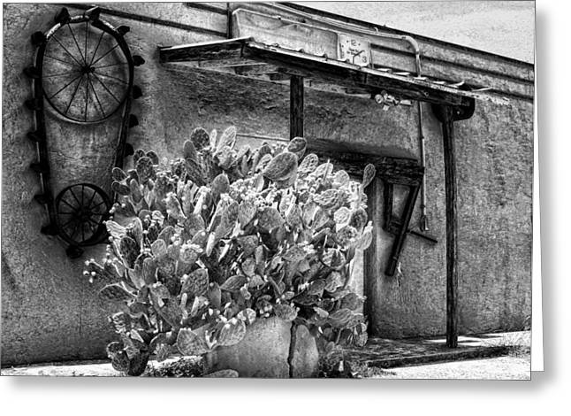 Feed Mill Cafe Greeting Cards - The Old Mill in Black and White Greeting Card by Tabitha Williams
