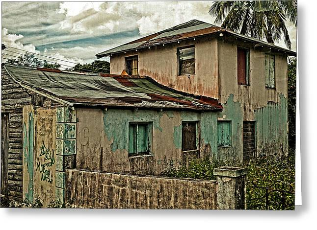 Old House Photographs Photographs Greeting Cards - Abandoned In The City Greeting Card by Kathy Jennings