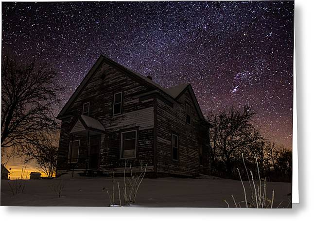 Abandoned Houses Photographs Greeting Cards - Abandoned in the cold Greeting Card by Aaron J Groen