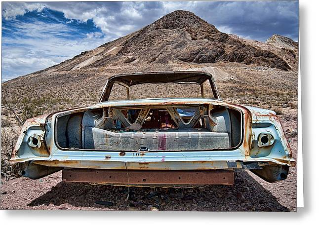 1960 Greeting Cards - Abandoned in the Desert Greeting Card by Leah McDaniel