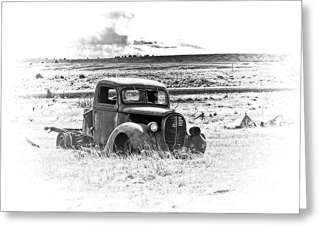 56 Chevy Pickup Greeting Cards - Abandoned in the Snow Greeting Card by Steve McKinzie