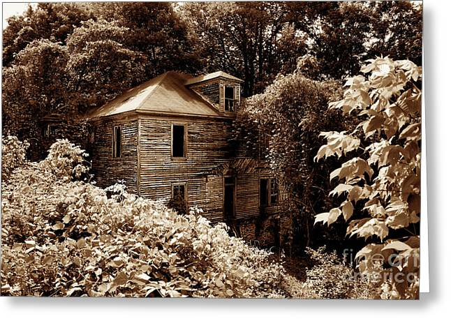 Abandoned In Time Greeting Card by Melissa Petrey