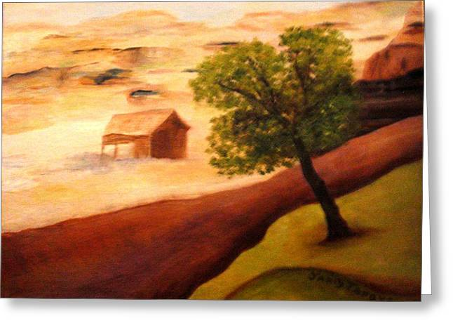 Pinion Paintings Greeting Cards - Abandoned Greeting Card by Janis  Tafoya