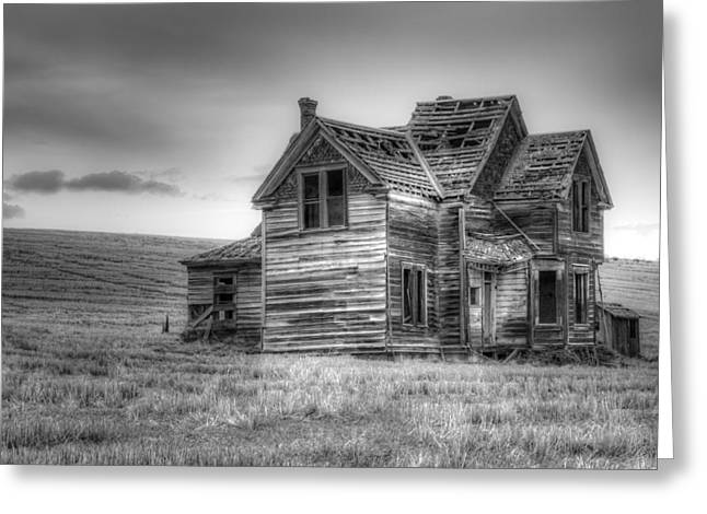 Old Home Place Greeting Cards - Abandoned Greeting Card by Jean Noren