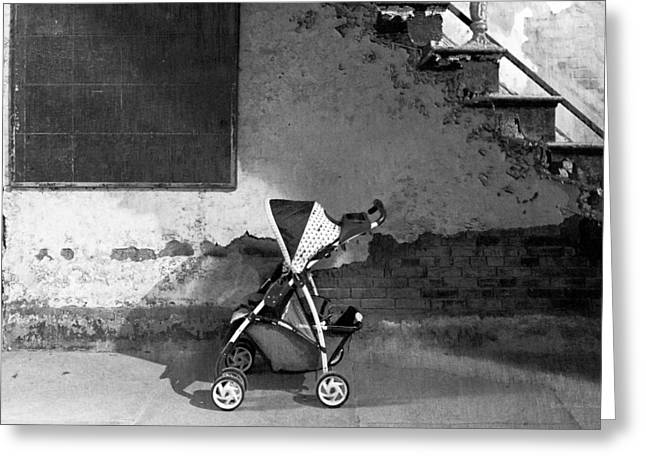 Go Cart Greeting Cards - Abandoned - Left behind  Greeting Card by Mike Savad