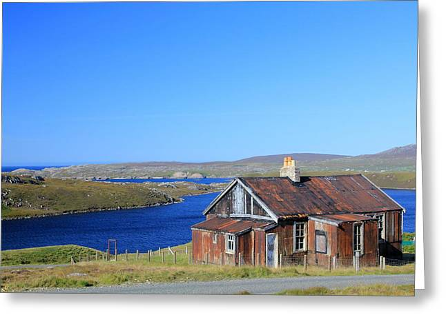 Metal Sheet Greeting Cards - Abandoned Lewis home Greeting Card by Geoff Ford