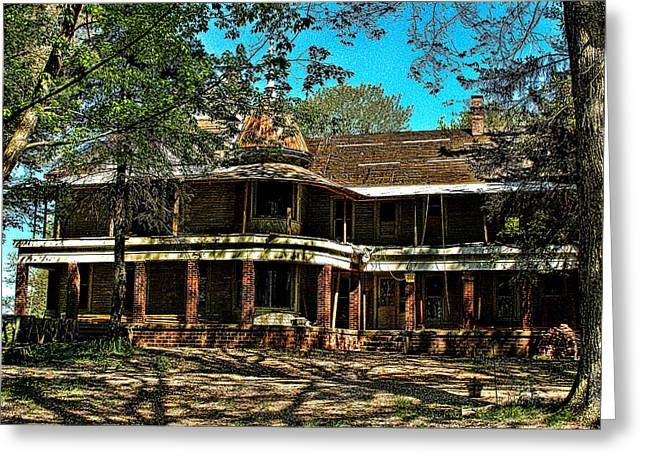 Abandoned Mansion Greeting Card by Kristie  Bonnewell