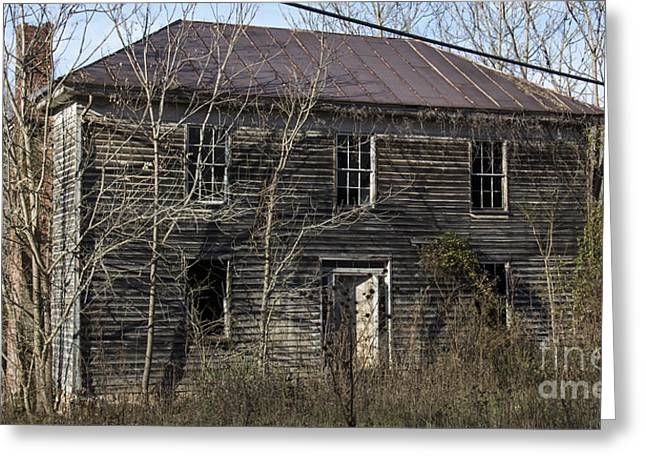 Abandoned Houses Greeting Cards - Abandoned Mansion Greeting Card by Teresa Mucha