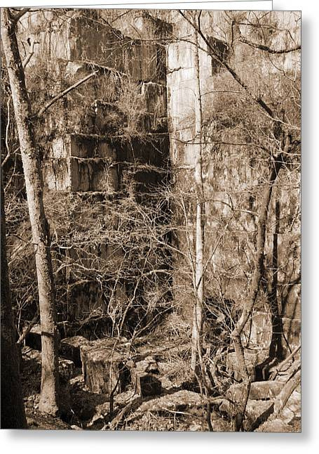 Mining Photos Greeting Cards - Abandoned Marble Quarry Greeting Card by Melinda Fawver