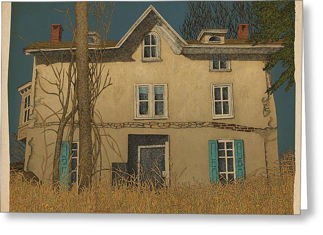 Abandoned House Mixed Media Greeting Cards - Abandoned Greeting Card by Meg Shearer