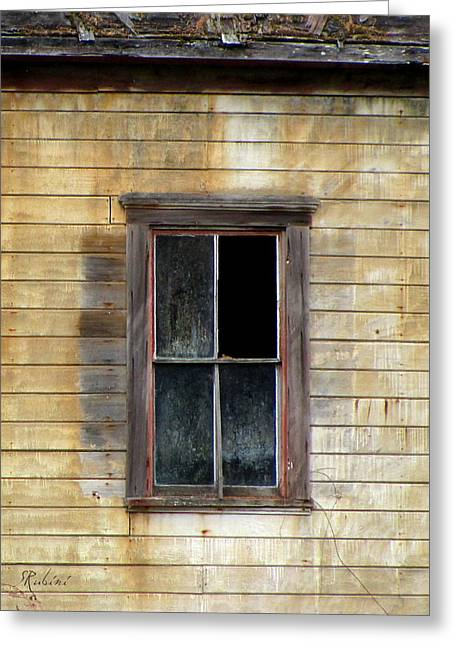 Abandoned School House. Greeting Cards - Abandoned No. 2 Greeting Card by Sandy Rubini