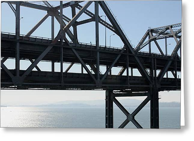 Bay Bridge Greeting Cards - Abandoned Old Bridge Viewed From San Greeting Card by Panoramic Images