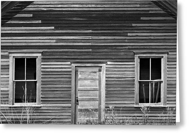 Abandoned School House. Greeting Cards - Abandoned One-room Country School Greeting Card by Donald  Erickson