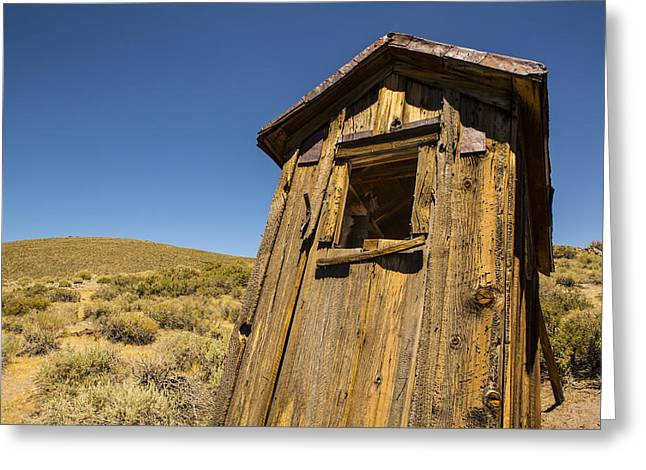 Saloons Greeting Cards - Abandoned Outhouse Greeting Card by Bryant Coffey
