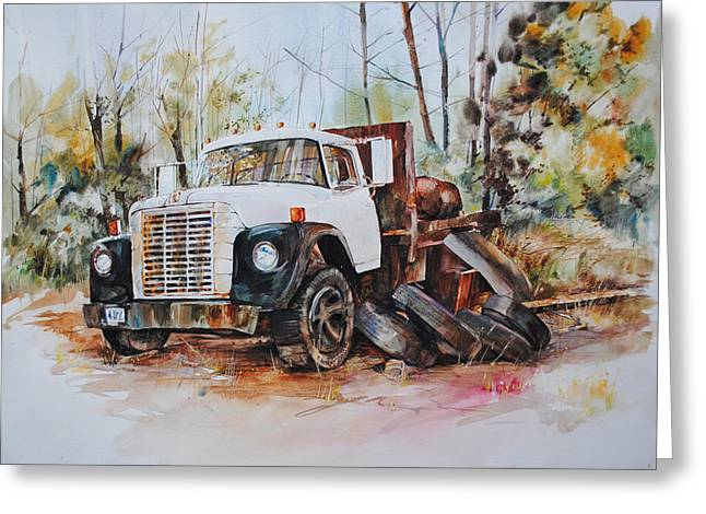 Old Relics Paintings Greeting Cards - Abandoned Greeting Card by P Anthony Visco