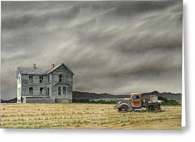 Old Houses Greeting Cards - Abandoned   Greeting Card by Paul Krapf
