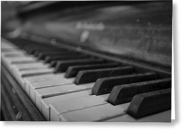 Nikon D90 Greeting Cards - Abandoned Piano Greeting Card by Jose Vazquez
