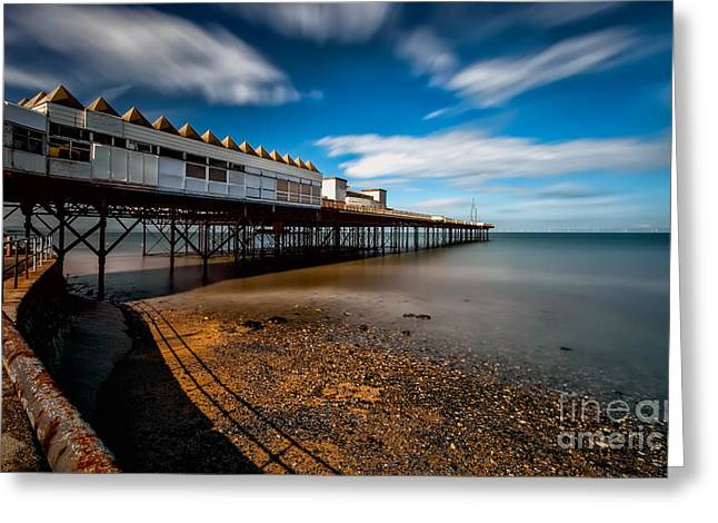 Pier Digital Greeting Cards - Abandoned Pier Greeting Card by Adrian Evans