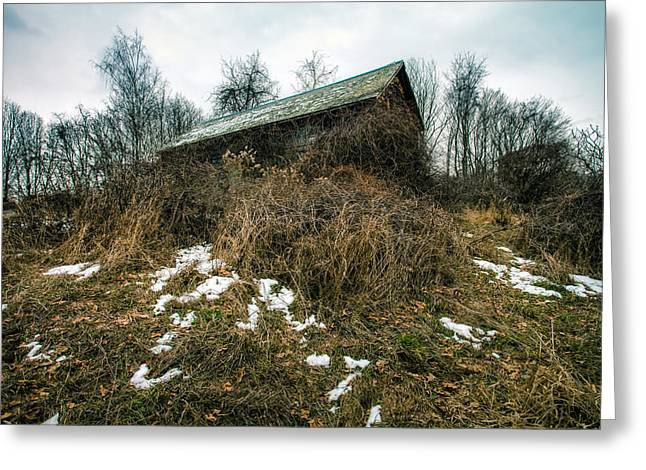 Abandoned Places - Old House - House On The Hill Greeting Card by Gary Heller