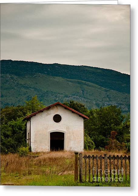 Abandoned Houses Greeting Cards - Abandoned Railway House in Italy Greeting Card by Emilio Lovisa