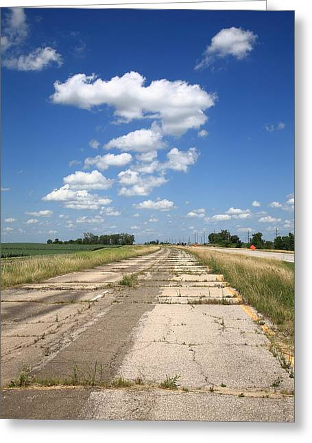 Gravel Road Greeting Cards - Abandoned Route 66 Greeting Card by Frank Romeo