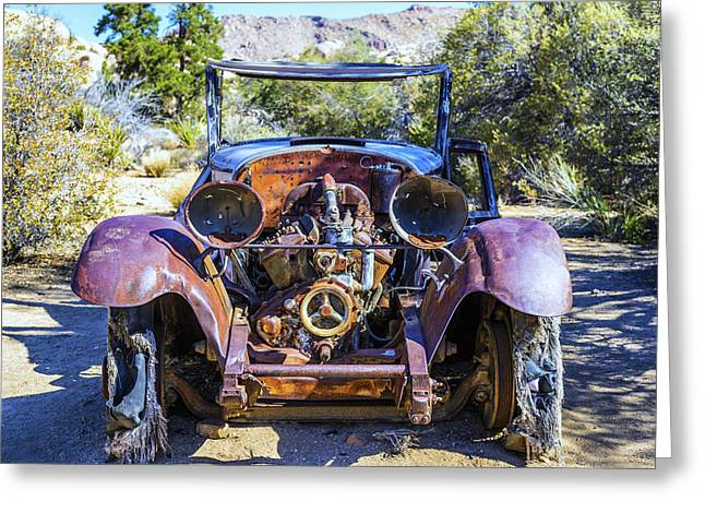 Rusted Cars Greeting Cards - Abandoned Rusty Car Greeting Card by Joseph S Giacalone
